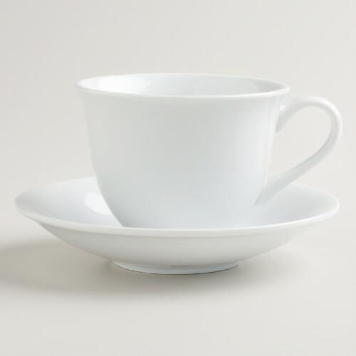 Porcelain Cup and Saucer Set, Set of 2