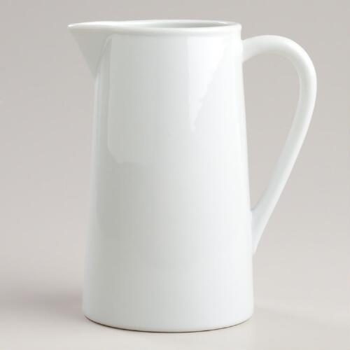 Porcelain Straight Pitcher