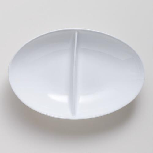 Porcelain Divided Oval Serving Bowl