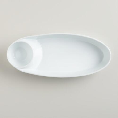 Porcelain Divided Appetizer Dish