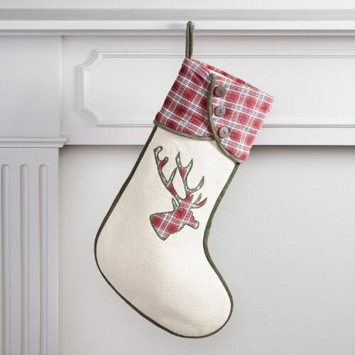 Plaid Stag Stocking
