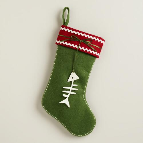 Fishbone Christmas Stocking