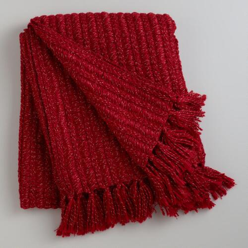 Red Loft Lurex Throw