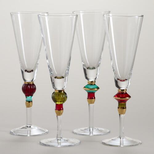 Russian Champagne Flute, Set of 4