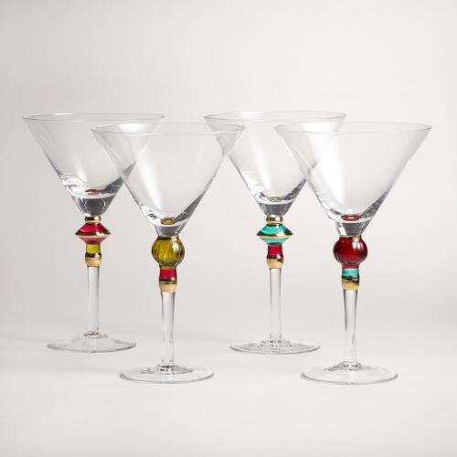 Russian Martini Glasses Set of 4