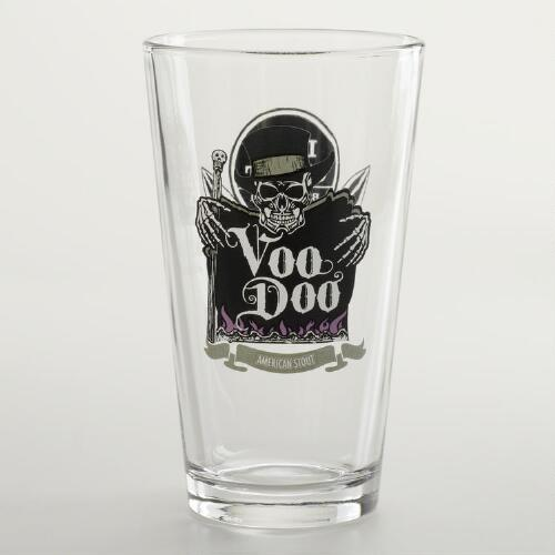 Left Coast Voo Doo Pint Glasses, Set of 2