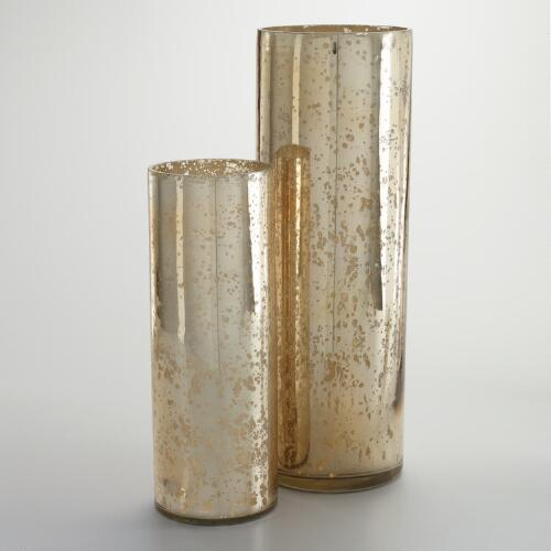 Champagne Mercury Glass Vase