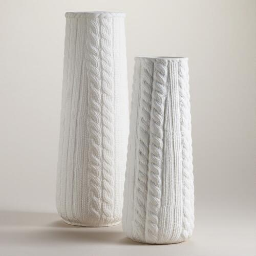 White Ceramic Sweater Vase