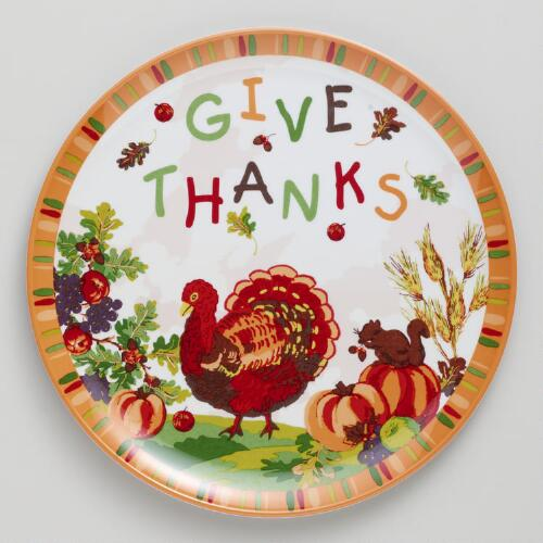 Melamine Turkey Plates, Set of 2