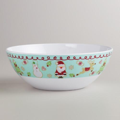 Melamine Christmas Sweets Bowls, Set of 2