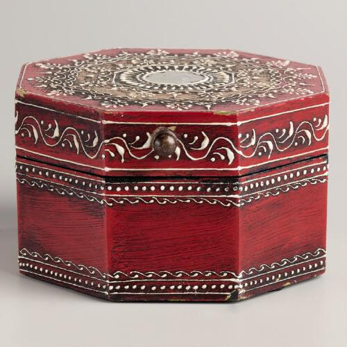 Red Octagon Gabriella Box