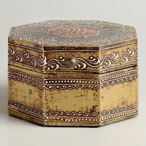 Gold Octagon Gabriella Box