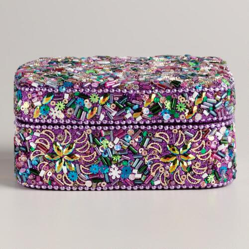 Purple Lac Rebecca Jewelry Box