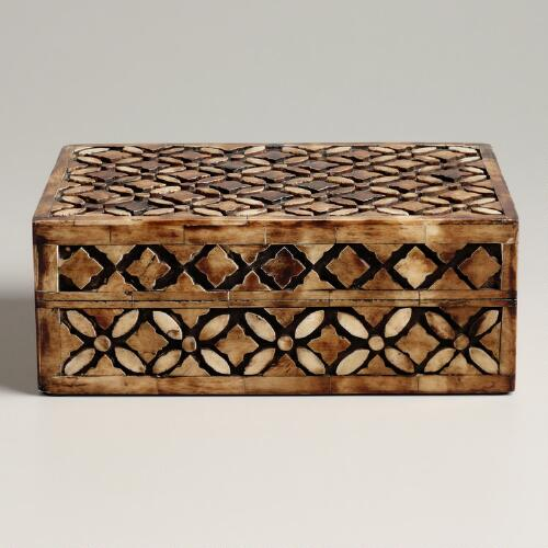 Brown Bone Aiden Jewelry Box