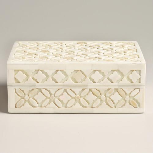 Ivory Bone Aiden Jewelry Box