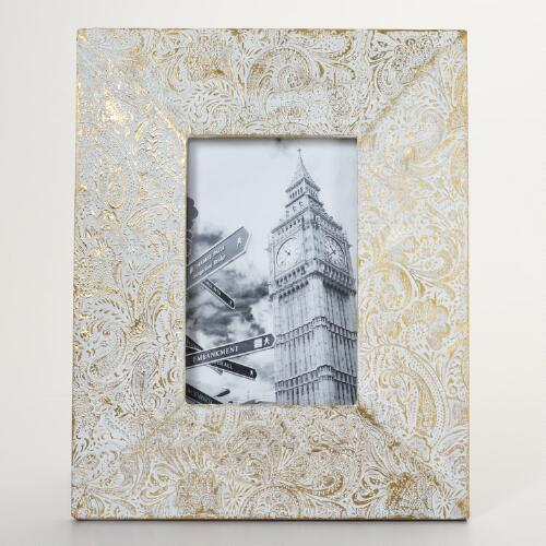White and Gold Alexandra Frame