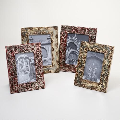 Red and Silver Alyssa Frames, Set of 2
