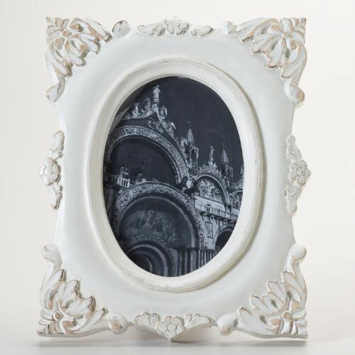 White Distressed Estella Frame