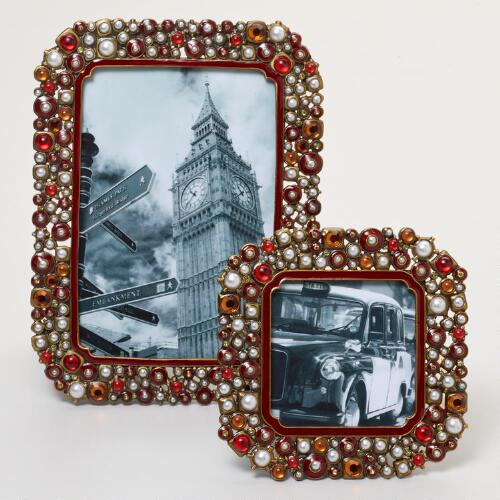 Red Beaded Kinsey Frames