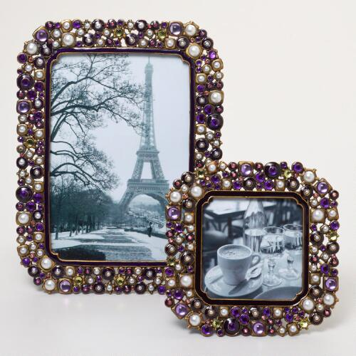 Purple Beaded Kinsey Frames