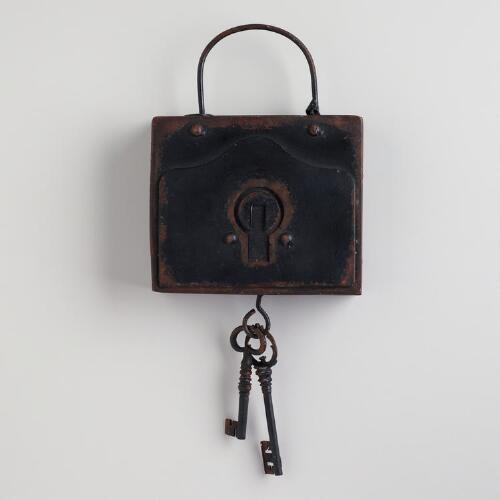 Square Lock and Key Wall Hanging
