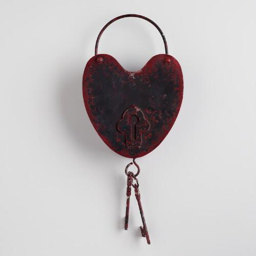 Heart Lock and Key Wall Hanging