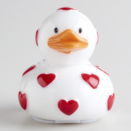 Raspberry Hearts Ducky Lip Balm