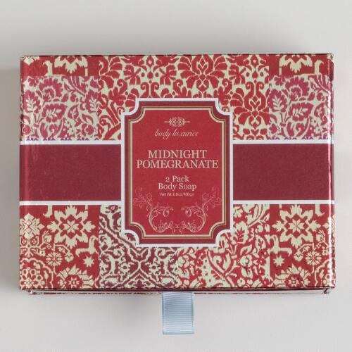 Midnight Pomegranate Ikat Soap Set, 2-Piece