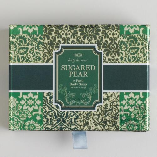 Sugared Pear Ikat Soap Set, 2-Piece