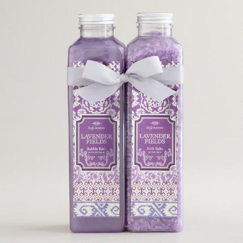 Lavender Fields Ikat Bath Salt and Bubble Bath, 2-Piece