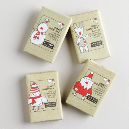 Christmas Icon Bar Soaps, Set of 4