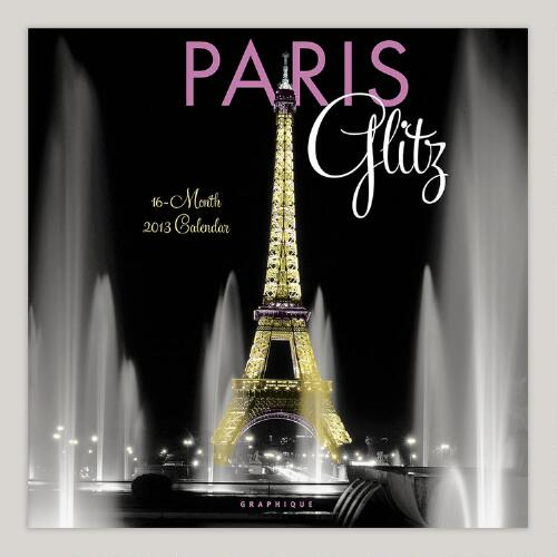 Paris Glitz 16-Month Wall Calendar