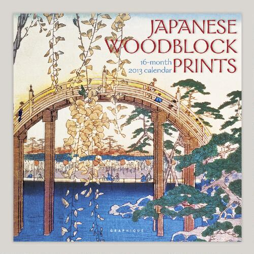 Japanese Woodblocks 16-Month Wall Calendar