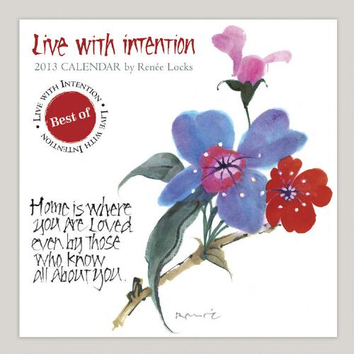 Live with Intention 12-Month Wall Calendar
