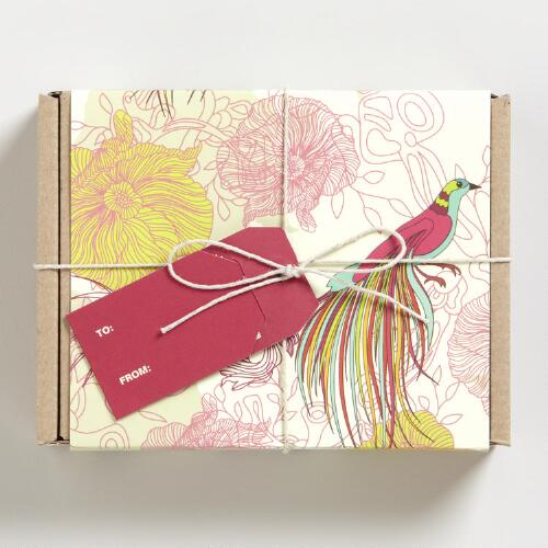 Green Foralcy Boxed Notecards