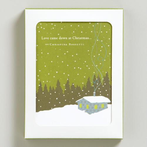 """Love Came Down at Christmas"" Positively Green Holiday Cards"