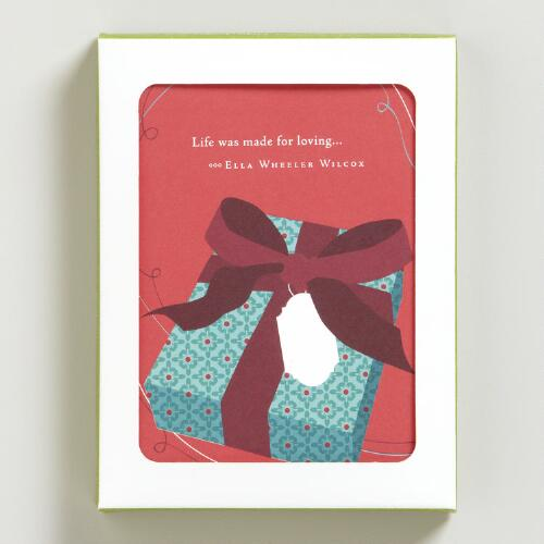 """Life Was Made for Loving"" Holiday Cards, Set of 8"