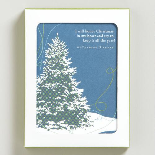 """I Will Honor Christmas..."" Holiday Cards, Set of 8"