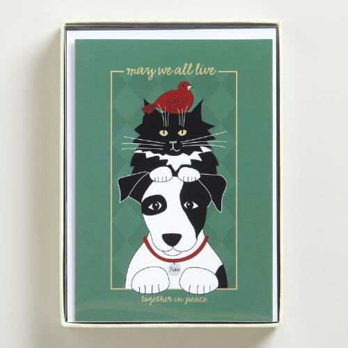 Pawsitive Wisdom Boxed Holiday Cards, Set of 12