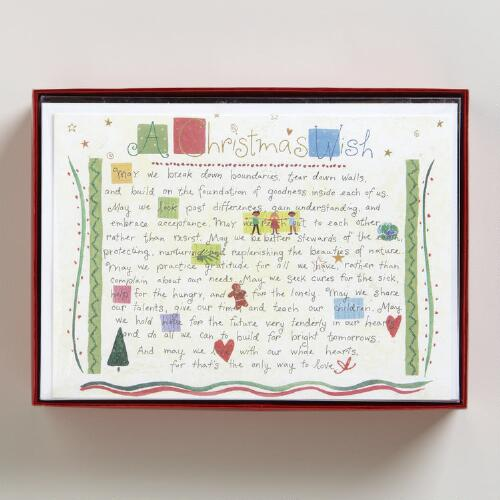 Christmas Wish Boxed Holiday Cards, Set of 15