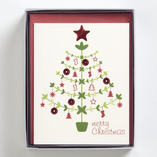 Merry Christmas Boxed Holiday Cards, Set of 15