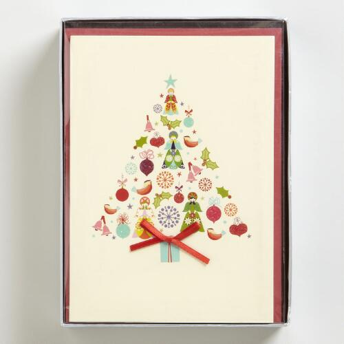 Kaleidoscope Tree  Boxed Holiday Cards, Set of 15