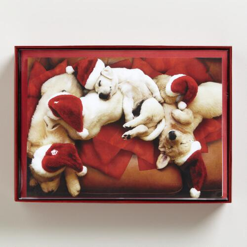 Sleeping Puppies Boxed Holiday Cards, Set of 15