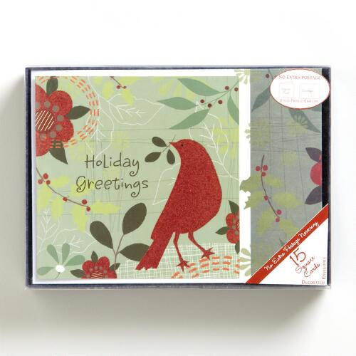 Red Greetings Boxed Holiday Cards, Set of 16