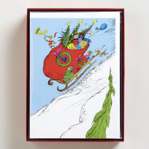 The Grinch Boxed Holiday Cards, Set of 15