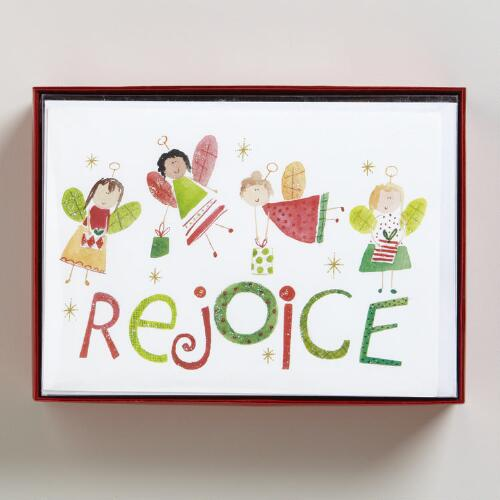Angel Presents Boxed Holiday Cards, Set of 15
