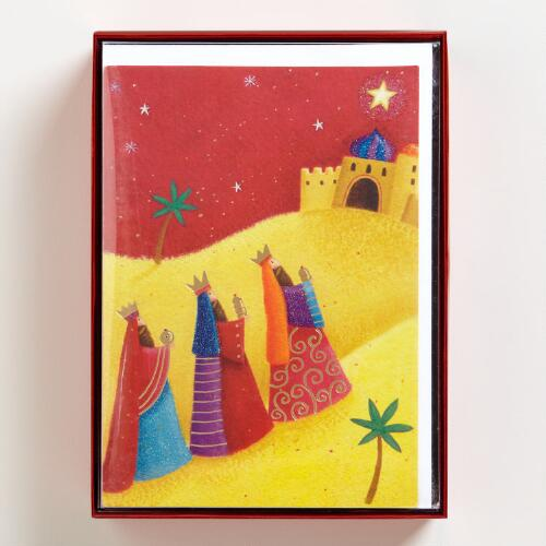 Three Wise Men Boxed Holiday Cards, Set of 15