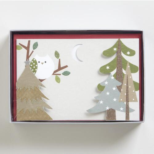 Woodland Wonder Boxed Holiday Cards, Set of 15