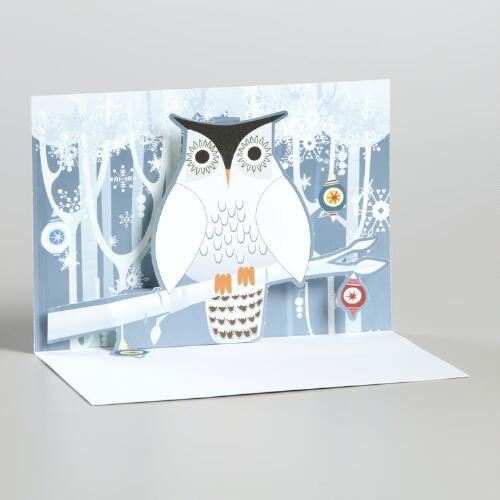 Snowy Owl Boxed Holiday Cards, Set of 8
