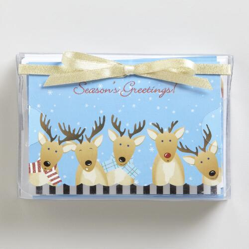 Reindeer Boxed Holiday Pop-Up Cards, Set of 8